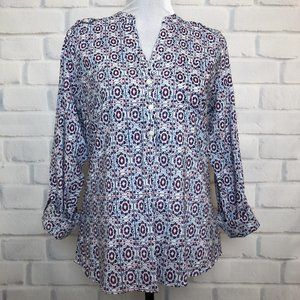 NWT The Limited Printed Popover Blouse